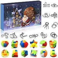 Devis Set of 24 Brain Teaser Puzzles Toys Metal Wire Puzzle Plastic Puzzle Advent Calendar 2020 Christmas Countdown…