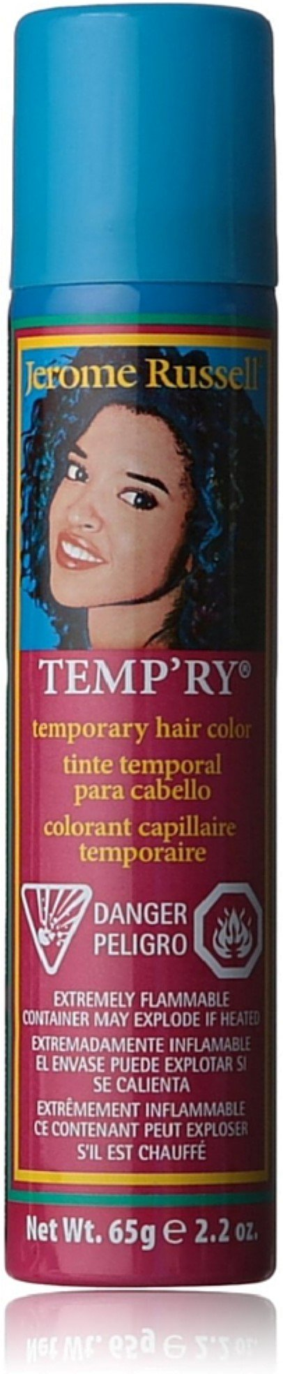Jerome Russell Temporary Hair Color Spray, Blue 2.2 oz (Pack of 12) by Jerome Russell