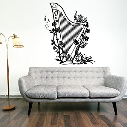Amazoncom Harp Wall Decal by Style Apply Music Wall Sticker