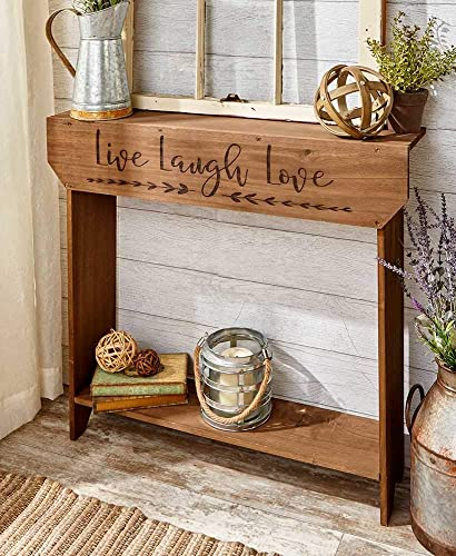 The Lakeside Collection Farmhouse Sentiment Console Table – Live Laugh Love