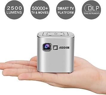 AODIN Fusion Mini Proyector, 100 ANSI Lúmenes LED Smart WiFi Pico ...