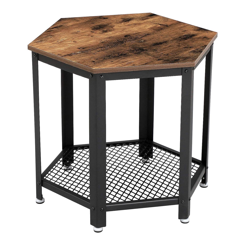 Vasagle vintage side table end table bedside table in - Antique side tables for living room ...