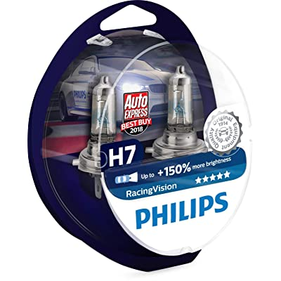 Philips RacingVision H7 Headlight Bulbs (Twin) 12972RVS2 Xtreme Vision Upgrade: Automotive