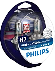 Philips Racing Vision RacingVision +150% H7 Headlight Globes (Twin) 12972RVS2