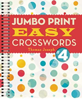 image about Thomas Joseph Printable Crosswords identify Jumbo Print Very simple Crosswords #6 (Huge Print Crosswords