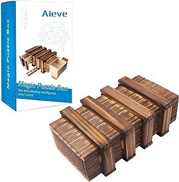 AIEVE Caja de Rompecabezas, Caja mágica Compartimiento Secreto de ...