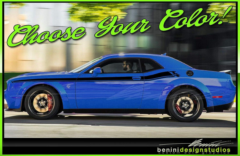 Blue Dodge Challenger >> Amazon Com 2015 2019 Rt Style Side Racing Stripes Srt8 Srt