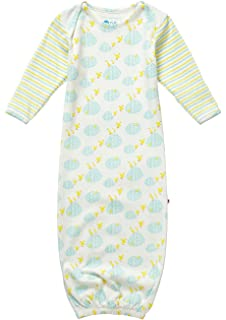 a604e654165 Piccalilly Organic Cotton Yellow and Blue Unisex Puddle Duck Print Baby  Bundler Nightgown