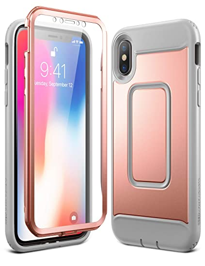 save off 3067d 301fb YOUMAKER Case for iPhone Xs & iPhone X, Rose Gold Full Body with Built-in  Screen Protector Heavy Duty Protection Shockproof Slim Fit Cover for All  New ...