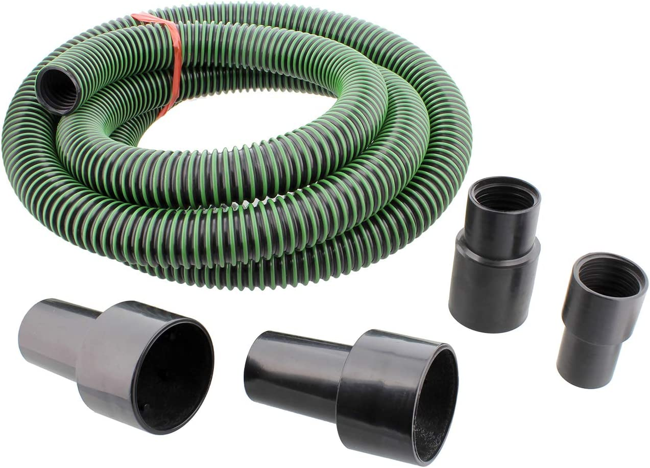 DCT Dust Collector Accessories Kit – 1.25in x 10ft Vacuum Hose, Dust Collection Fittings, and Vacuum Reducer