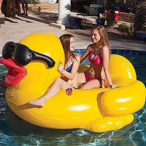 TGDY Flotador Poo Inflable, Pato Grande Amarillo Flotador Gigante Piscina Unicornio, Balsa Inflable TG