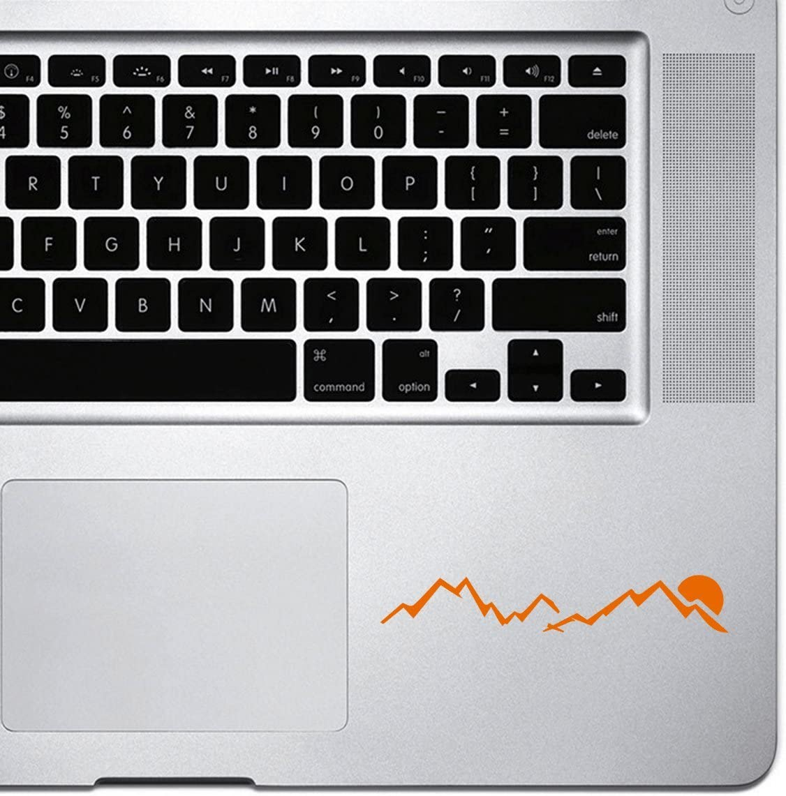 StickAny Palm Series JDM Mountains Sunset Sticker for MacBook Pro, Chromebook, and Laptops (Orange)