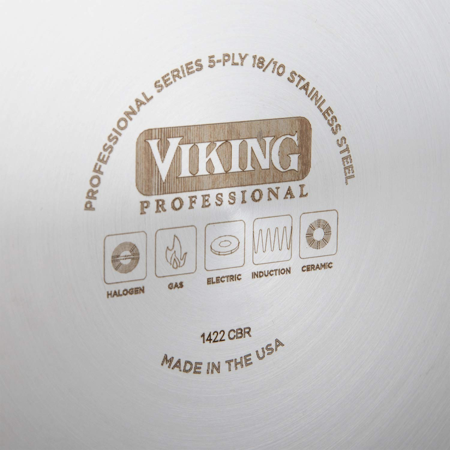 Viking Professional 5-Ply Stainless Steel Stockpot with Lid 8 Quart