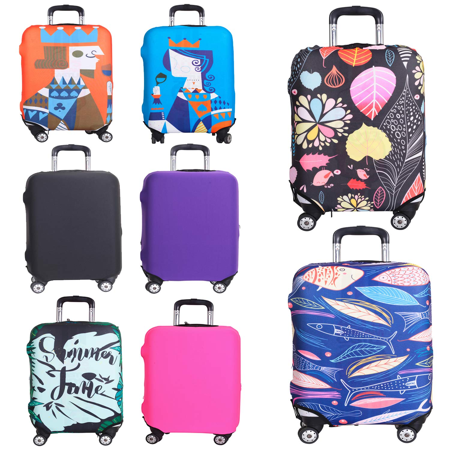 db8ac94a1595 Amazon.com: Reliancer Travel Luggage Cover Spandex Suitcase ...
