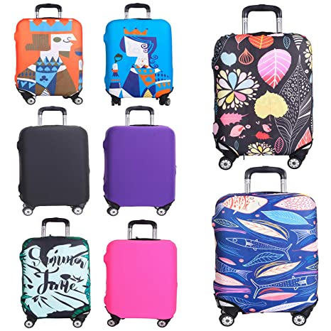 Reliancer Travel Luggage Cover Spandex Suitcase Protector Fits 18-32 Inch Luggage Washable Elastic Suitcase