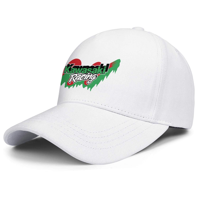 Kawasaki Racing Fo Men Fo Womens Adjustable Flat Bill HatsOne Size Mesh Cap