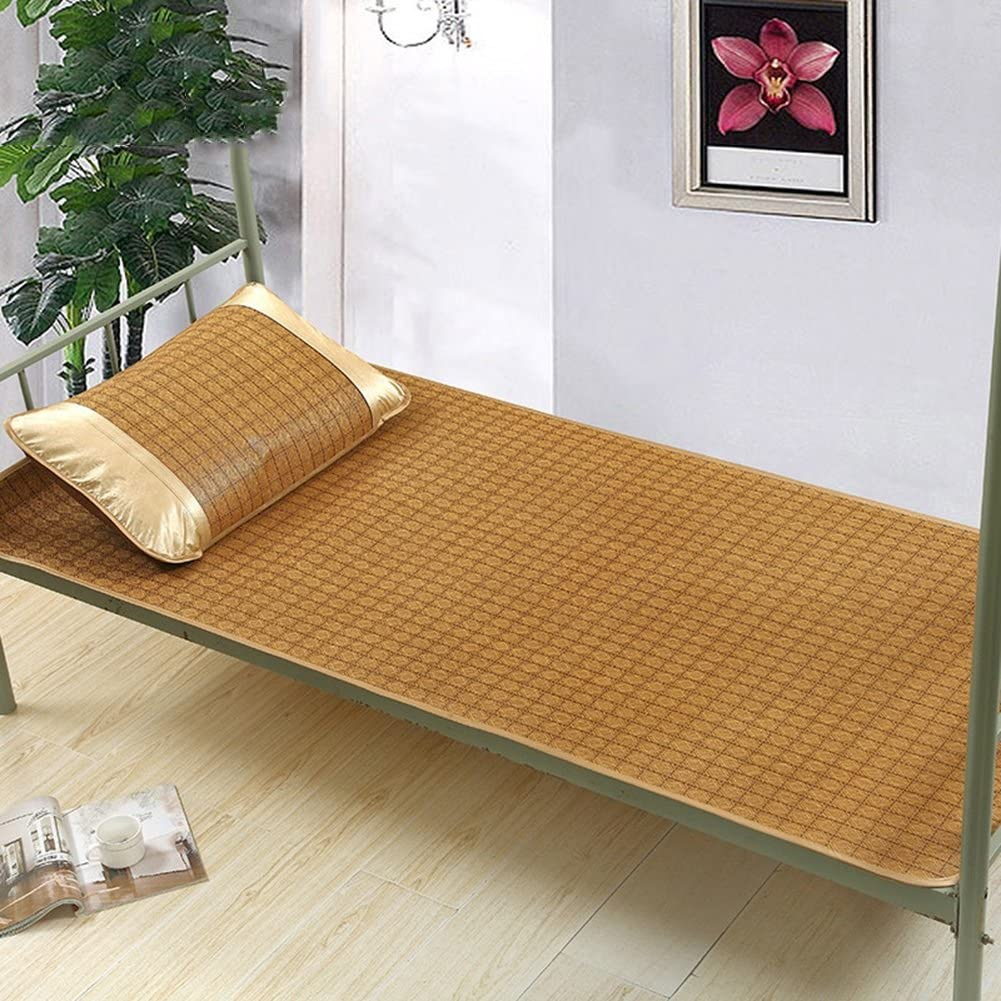 WENZHE Mattresses Cooling Mattresses Bedding Straw Mat Summer Sleeping Mats Bed-mat Foldable Single Bed, Ice Silk Mat, 11 Colors, 0.9/1.0/1.2m Pad (Color : D, Size : 1.0×1.9m)