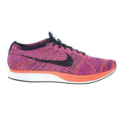 411670ed02f7 Nike Flyknit Racer Men s Shoes Black Black-Hypr Orng-VVD Prpl 526628-