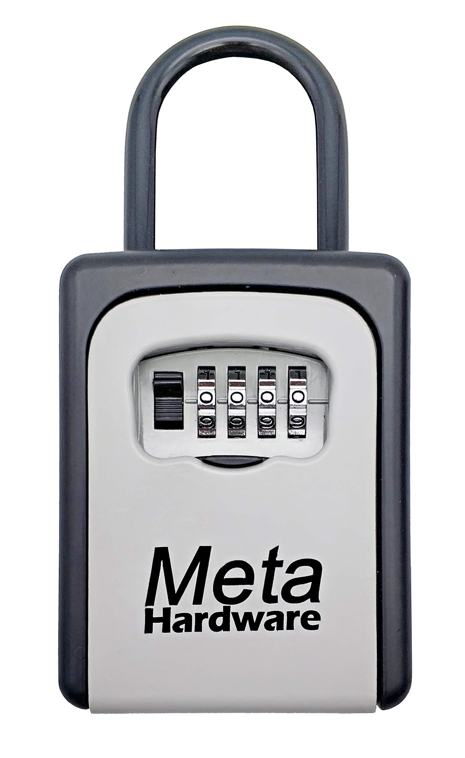 META Hardware Key Lock Box, Key Storage Lock Box, 4-Digit Combination Lock Box, Portable/Wall Mounted Lock Box, Combo Door Lock