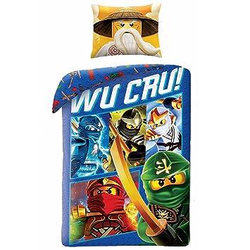 Amazon.com: Lego Ninjago Wu Cru Single Duvet Cover and Pillowcase ...