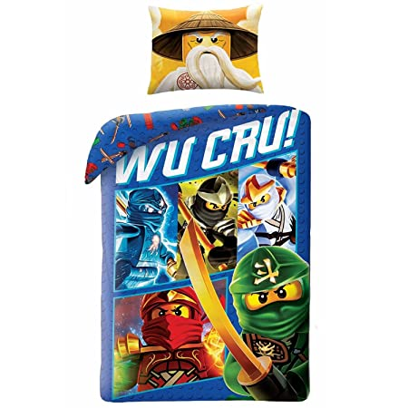 E.G.L Lego Ninjago Wu Cru Single Duvet Cover and Pillowcase Set ...
