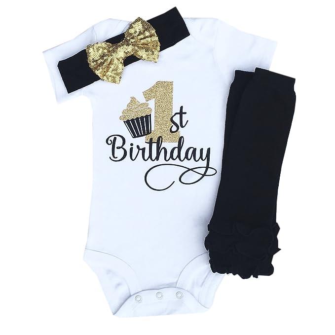 Amazon.com: Simplemente Swanky primer cumpleaños ropa, traje ...