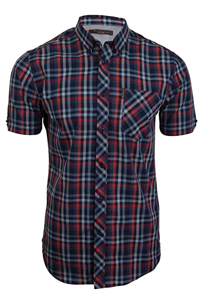 Ben Sherman Camisa Casual - Cuadrados - con Botones - Manga Corta - para  Hombre  Amazon.es  Ropa y accesorios 80f7fd470307d