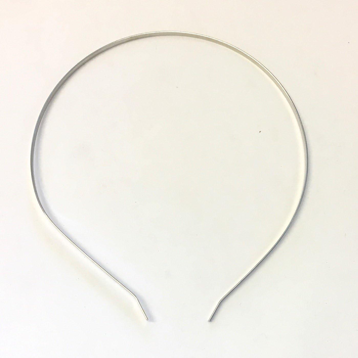 Diademas de metal plateado liso, para boda, 10 unidades