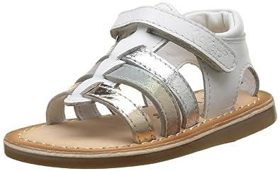 dd529ccfcfd3e1 Kickers DIXMILLIARD, Sandales bébé Fille, (Blanc Argent), 25 EU: Amazon.fr:  Chaussures et Sacs
