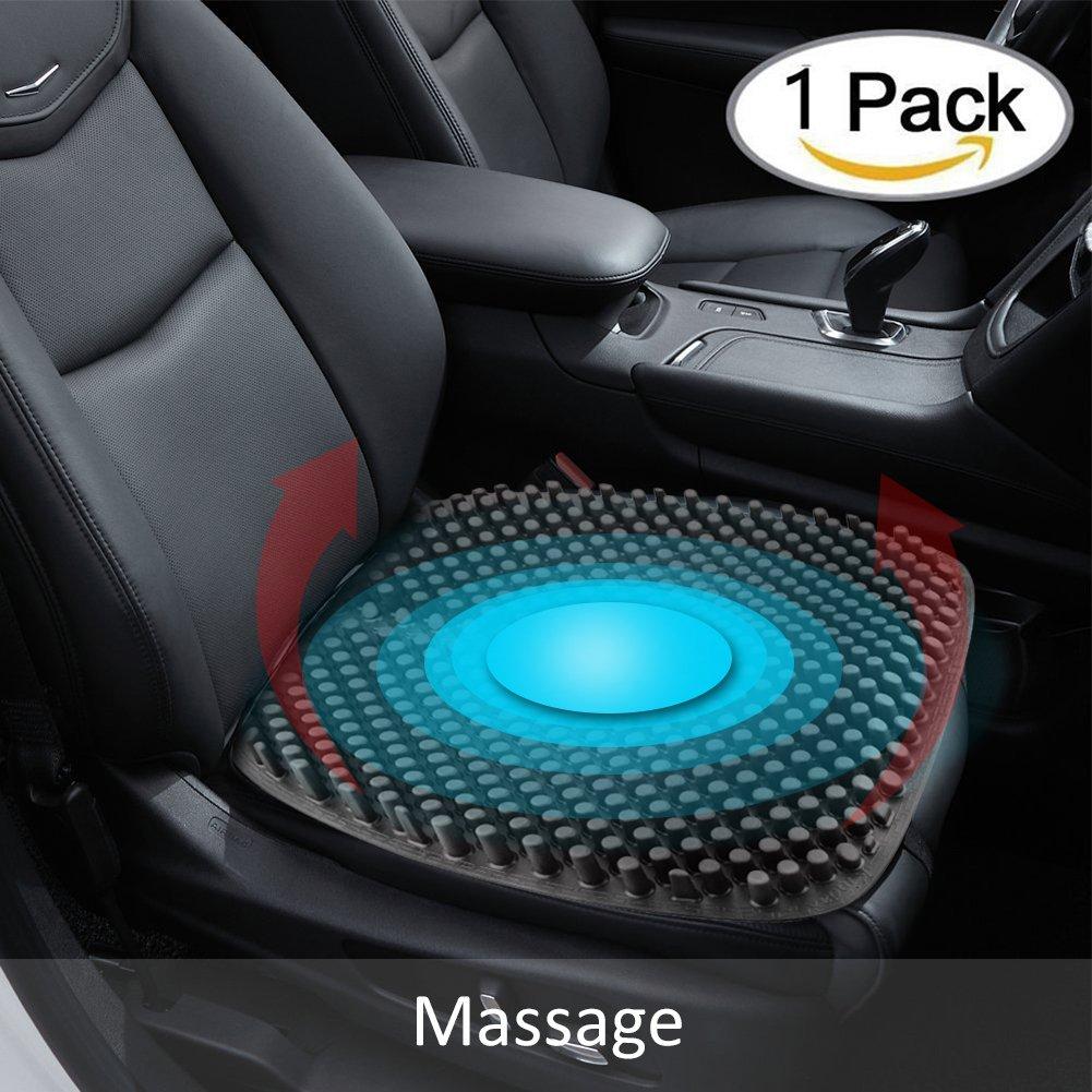 Cojín de asiento para coche de masaje 3D, de silicona transpirable, respaldo de apoyo para alivio del dolor ciático y del coxis, para todo el año, ...