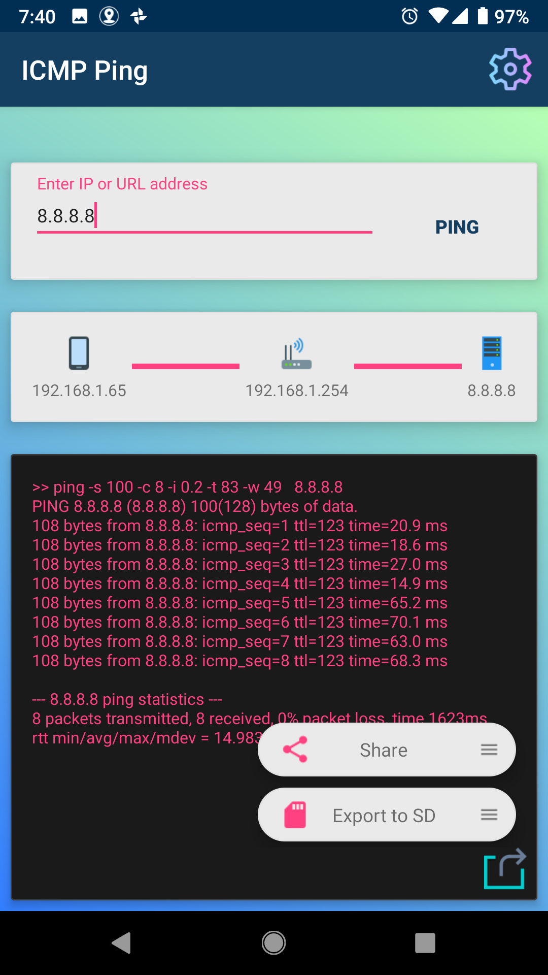 Amazon com: PING: Network Tool (ICMP) - Check Connectivity: Appstore