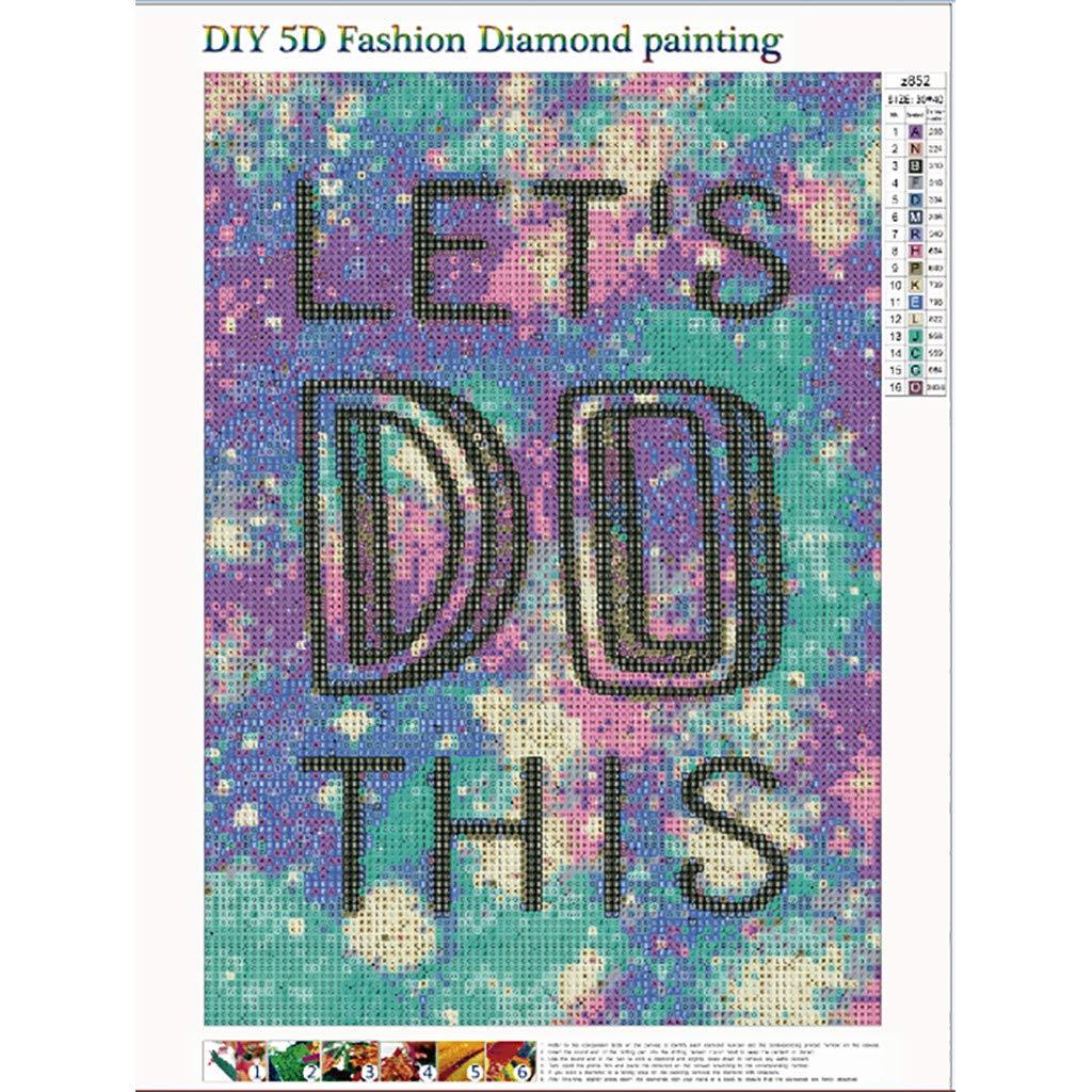 DIY 5D Diamond Painting Kit Round Diamond Embroidery Rhinestone Cross Stitch Diamond Painting Kits for Adults or Art Heart Love Hope Believe