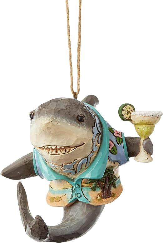 Enesco Margaritaville Shark with Margarita Holiday Ornament 6004011 *New 2019