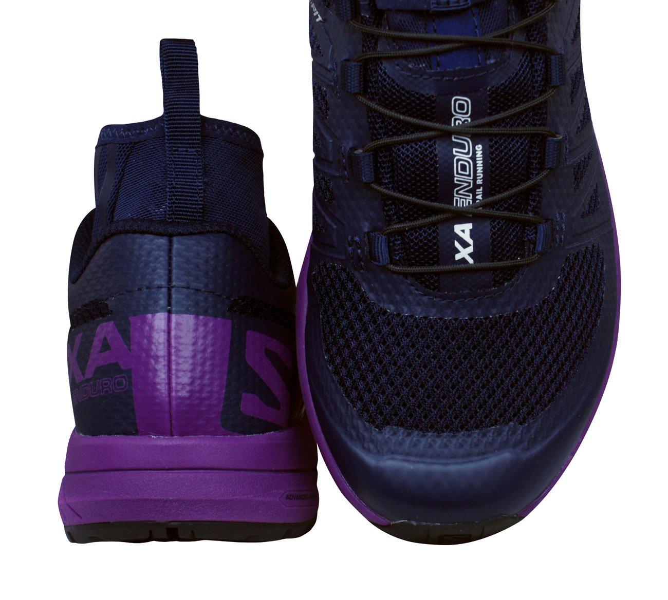 Salomon Women's XA Enduro W Trail Runner, Evening Blue/Grape Juice/Black, 9.5 M US by Salomon (Image #2)