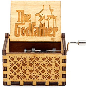 HLZK The Godfather Caja de música de madera, mecanismo de 18 notas ...