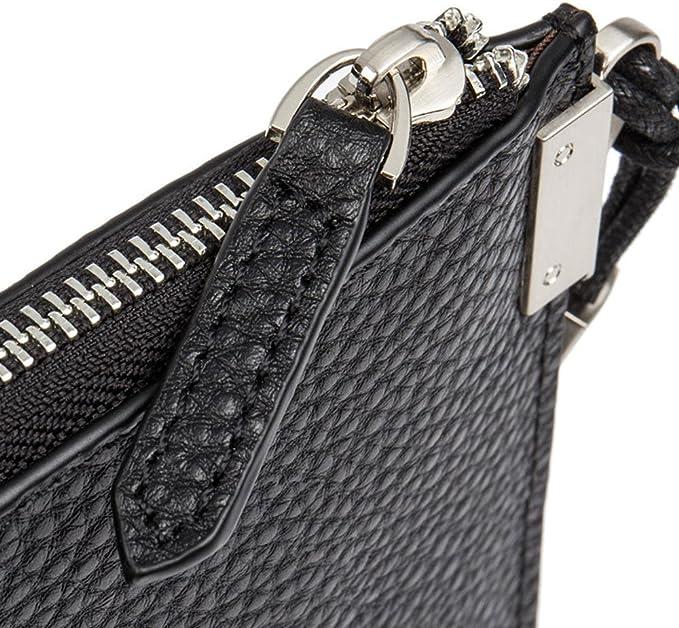DANJUE first layer cowhide mens woven clutch bag casual handbag D1006