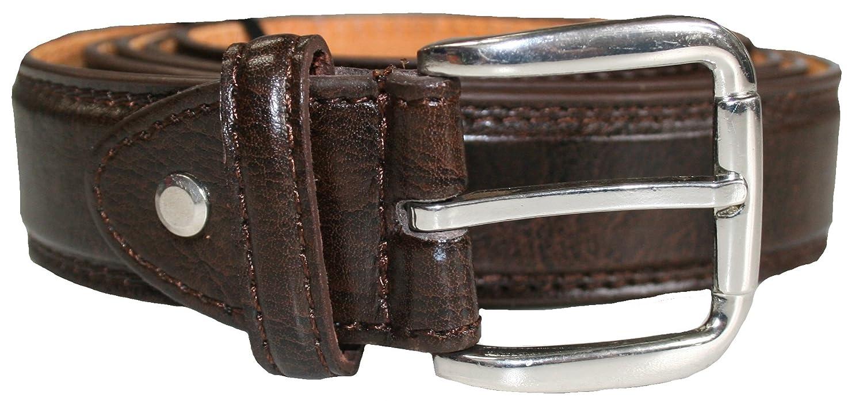 Mens Genuine Bonded Leather Lined Belt Sizes 32-60 3cm width 5028 Black Brown