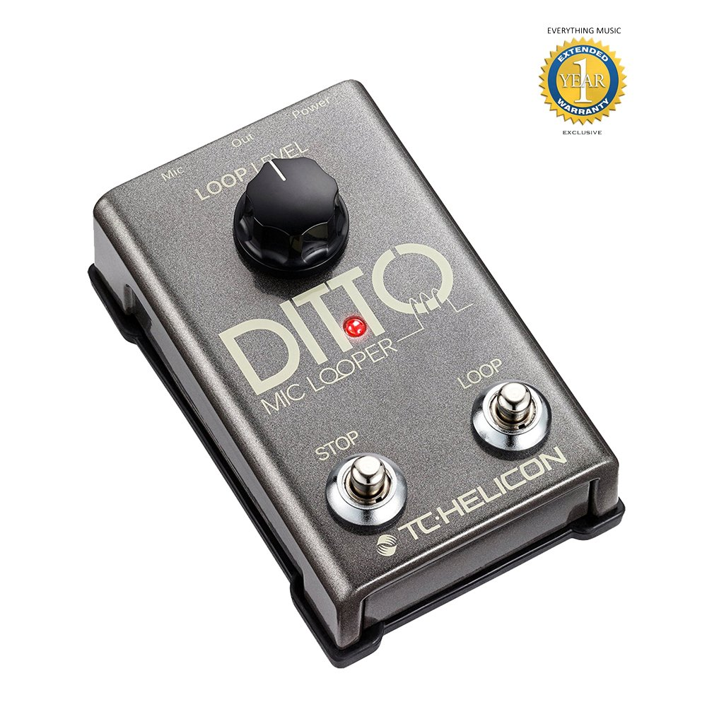 TC-Helicon Ditto Mic Looper Pedal with 1 Year EverythingMusic Extended Warranty Free by TC-Helicon