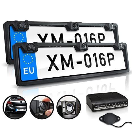 Colour sensor CMD XOMAX XM-014 Rear view camera//reversing camera kit Waterproof Day /& Night view 170/° angle LED lights Easy to install license number plate