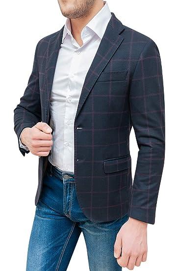 Evoga Giacca Uomo Sartoriale a Quadri Casual Elegante Invernale Made in  Italy  Amazon.it  Abbigliamento 5c30ac4d69e