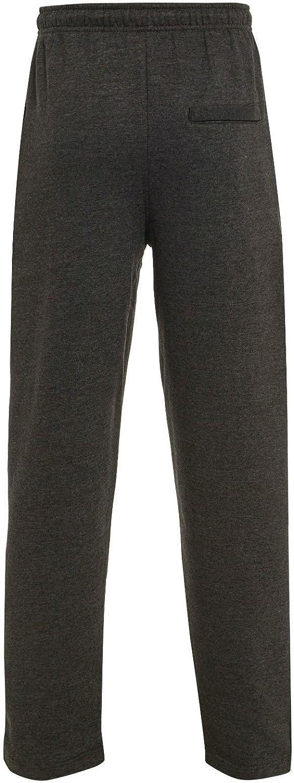 xpaccessories Pantalones de Correr para Hombre Gimnasio con Dobladillo Abierto Tallas S-5XL para Deportes Yoga Fitness con Forro Polar