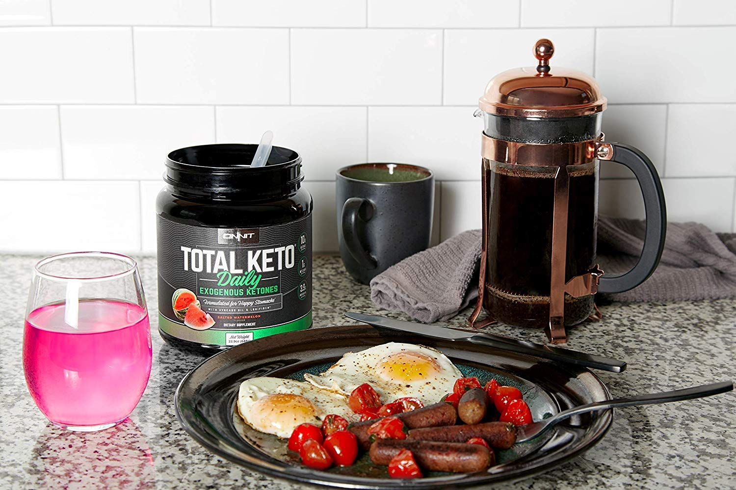 ONNIT Total Keto | Exogenous Ketones Supplement for Low Carb Diet | Premium Value Keto Supplement at 300g Ketone per Tub | Perfect Keto Fuel for Keto Shakes | Watermelon Flavor | 30 Servings by ONNIT (Image #8)