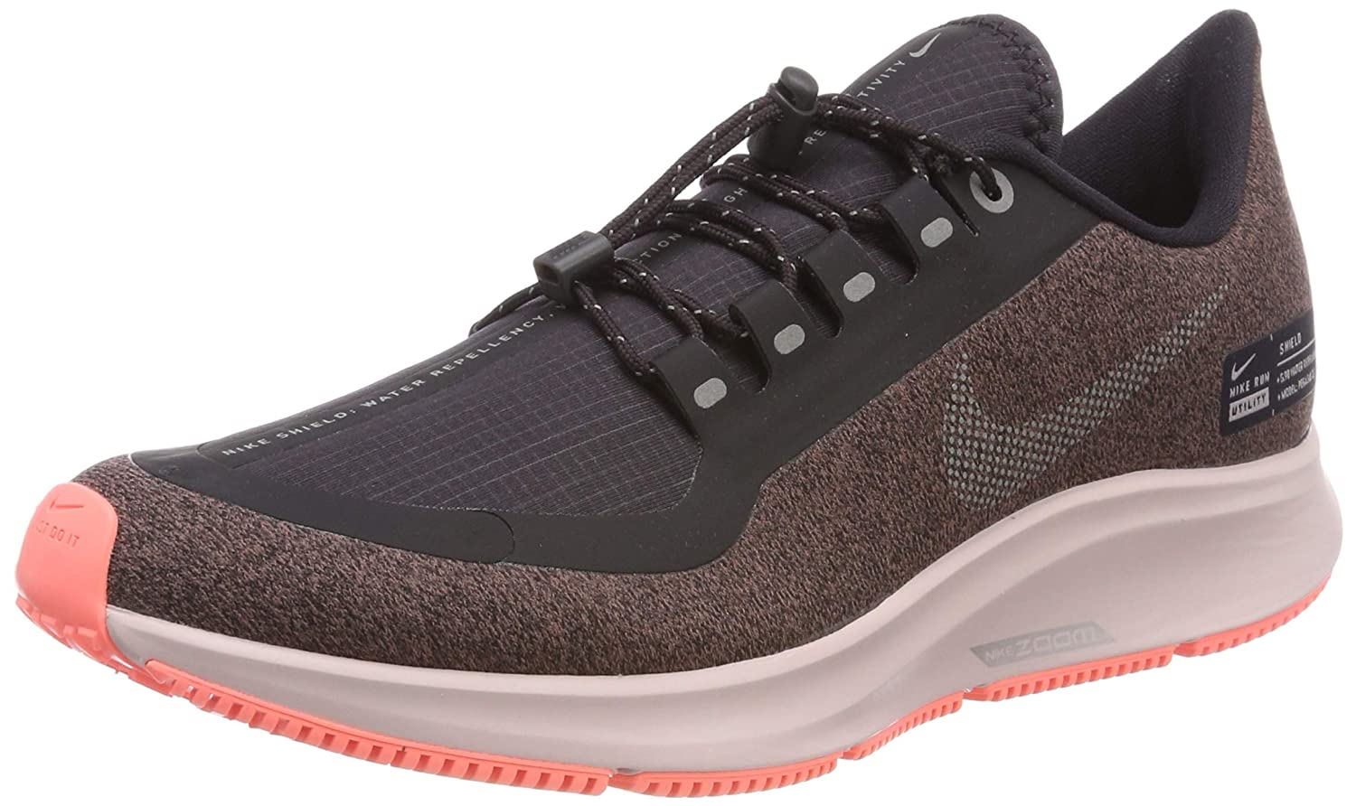 new product 76a15 9d0ed Nike W Air Zoom Pegasus 35 RN Shield [AA1644-001] Women Running Shoes Oil  Grey/US 5.5