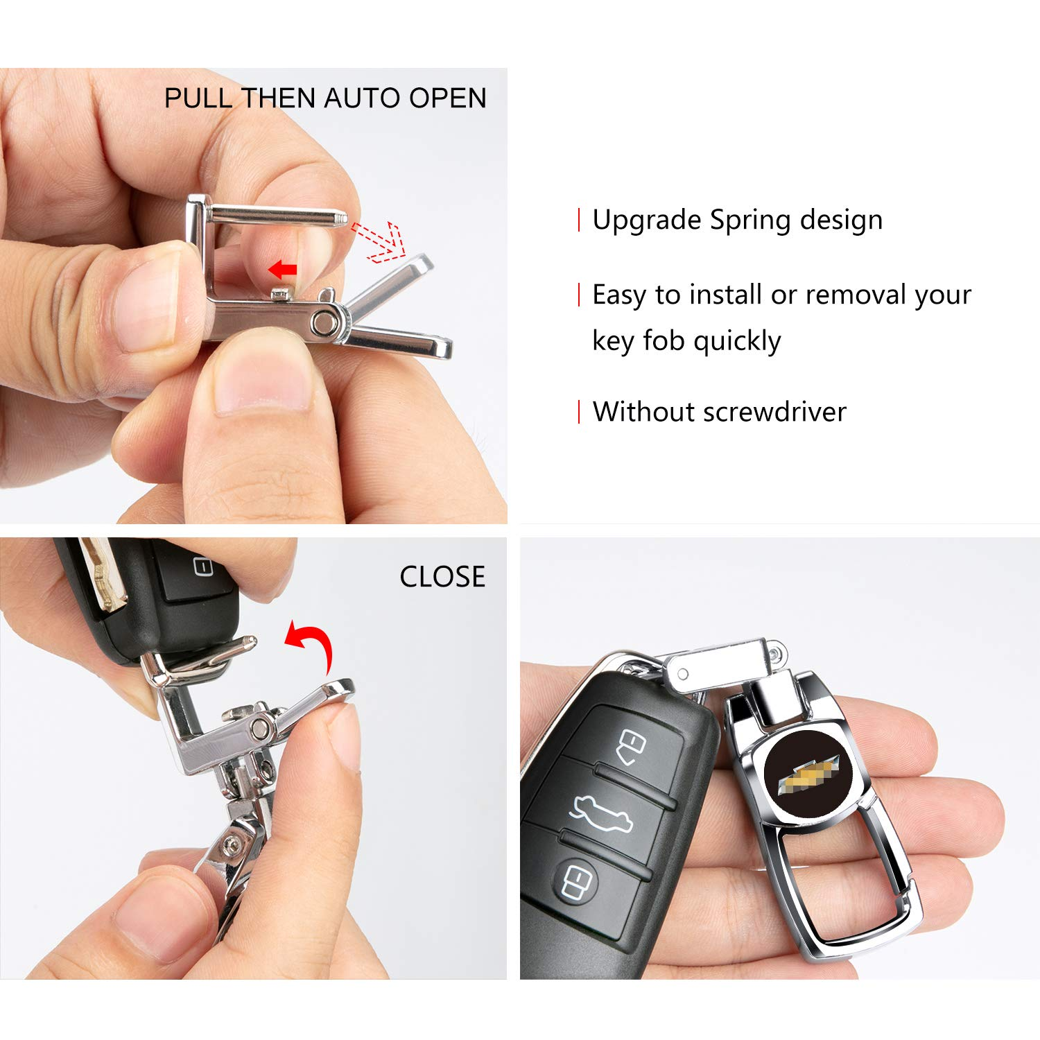 Feeke Flip Car Keychain for Honda Heavy Duty Key Chain