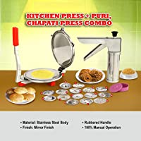 Enerex The kithchen Mall, Standared Stainless Steel Kitchen with Puri Press Combo