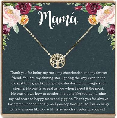 Tree D/ía de la Mujer Cumplea/ños Mam/á Collar Regalo para Madre D/ía de la Madre