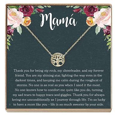Amazon.com: Collar Regalo para Madre: Joyería para Mamá ...