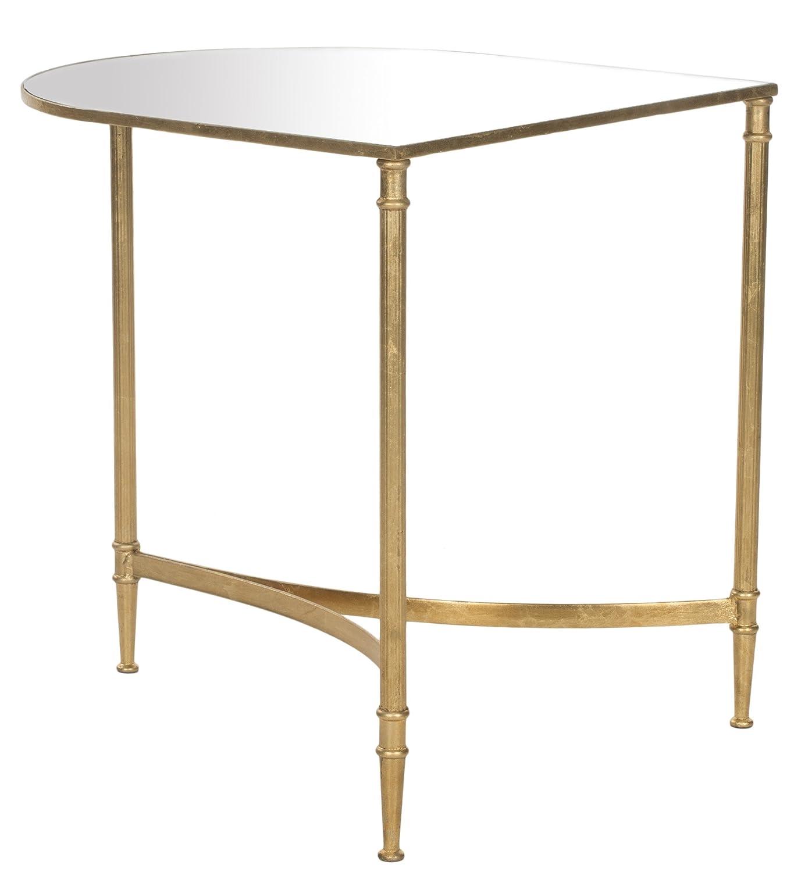Safavieh Safavieh Safavieh Akzenttisch, Metall, gold   spiegel, 50 x 45 x 50.80 cm 9c0408