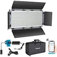 Neewer 960 LED Video Light with APP Intelligent Control System, Dimmable 3200K-5600K Bi-Color Photography LED Lighting…