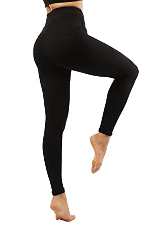 1efd6167e3 Lopie Yoga Pants for Women high Waist with Pockets Stretch Tummy Control Non  See-Through